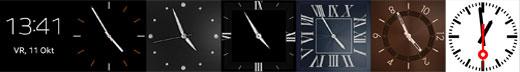 Verschillende klokken op smartwatches